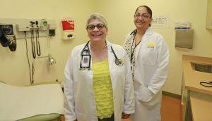 Cindy Schmeltz, Medical Director, and Fatima Sattar, Provider. Photo by David Swanson.
