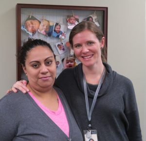 Lupe with her LCH Women's Health Provider, Catherine.