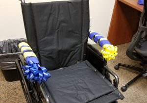 Photo of the new wheelchair