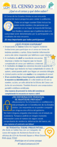 Screenshot of Census 2020 flyer in Spanish
