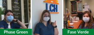 photos of lch staff in masks