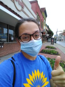 selfie of LCH staff person in mask