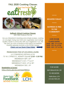 image of cooking class flyer