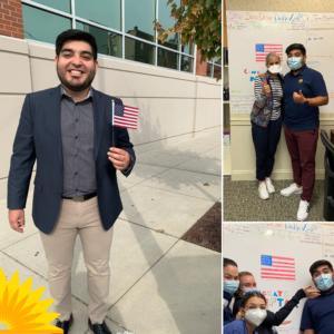 Nefta celebrates becoming a citizen with LCH pediatrics