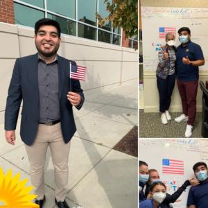 Nefta celebrates becoming a citizen with LCH pediatrics