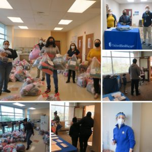Photo Collage of 2020 coat drive