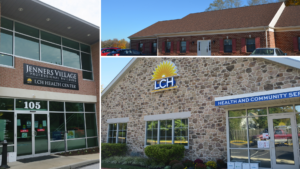Photo collage of LCH's three locations