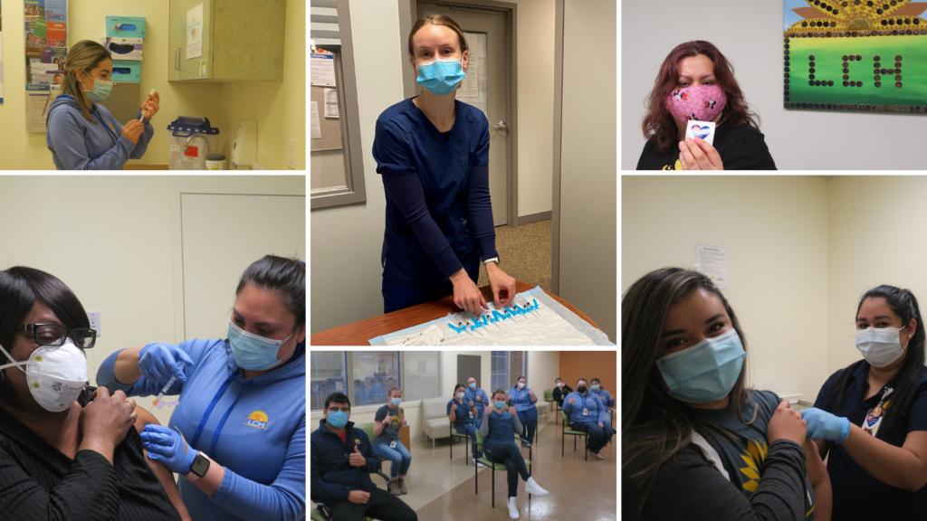 COVID 19 vaccine clinic collage