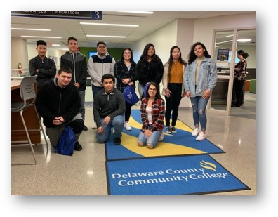 Escalera students group photo at Delaware County Community College