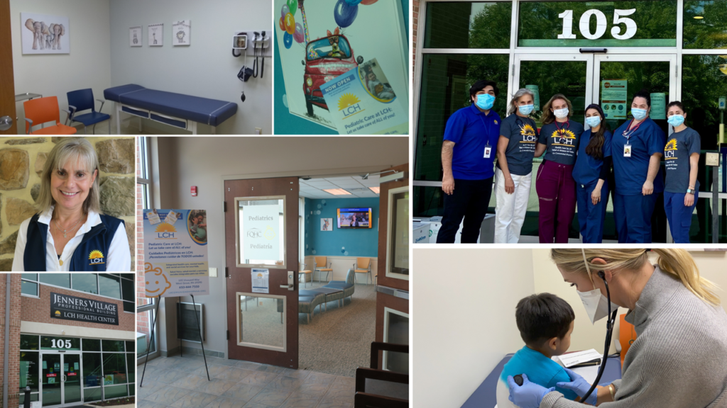 pohoto collage of LCH pediatrics office