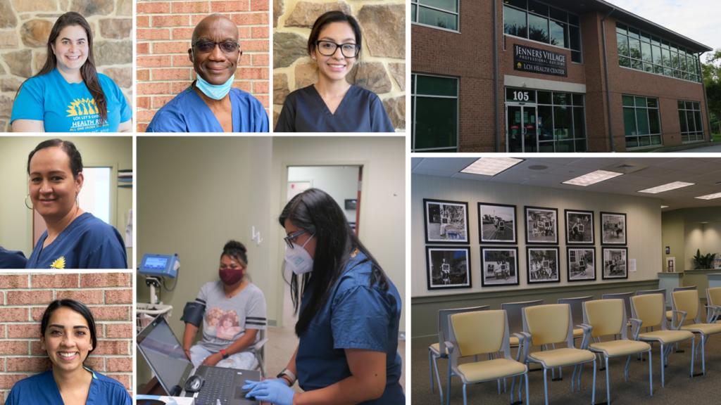 Photo collage of women's health team